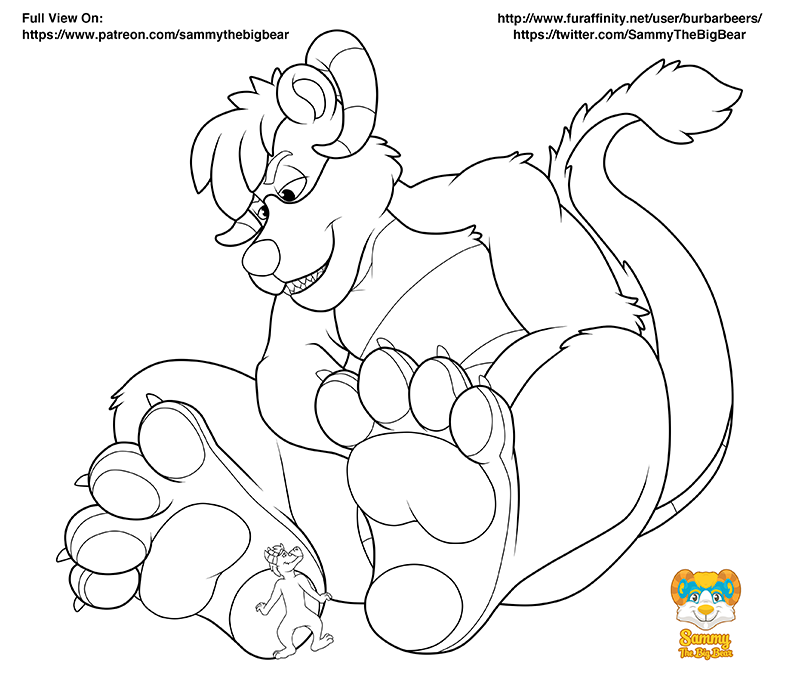 Most recent image: Lineart: At His Master's Feet