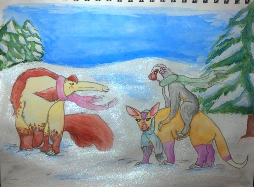 Sparkle Scarfs (watercolor)