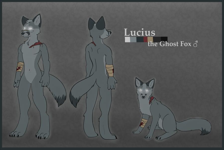 Lucius the Ghost Fox Design
