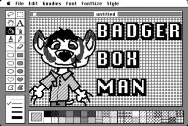 BadgerBoxes MacPaint Badge