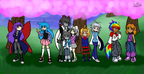 Character Drawcember Week 3 - Group Shot Colored