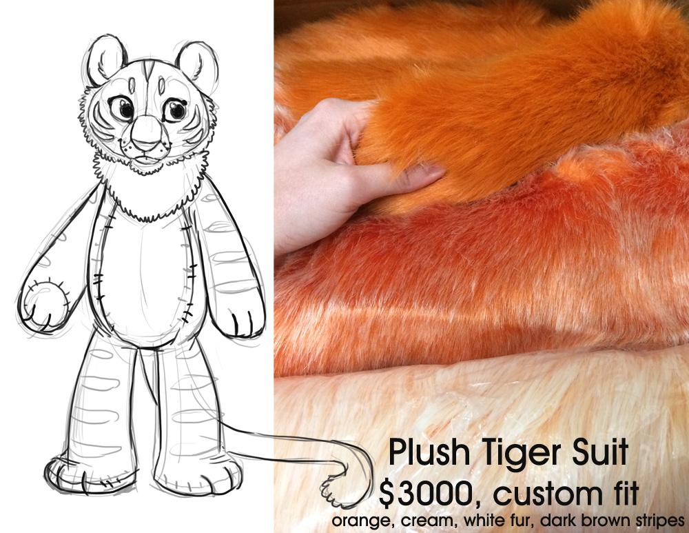 Plush Tiger Fursuit FOR ADOPTION