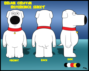 Brian Griffin reference sheet