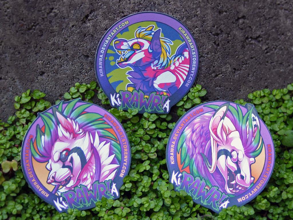 Free KiRAWRa Stickers
