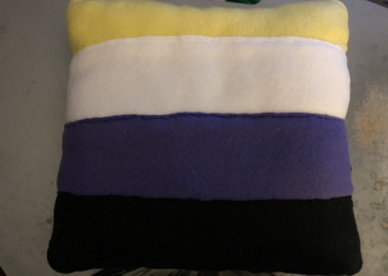 LGBT Non Binary Pride Flag Throw Pillow For Sale