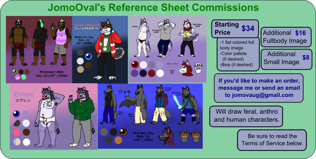 Featured image: Reference Sheet Commission Prices