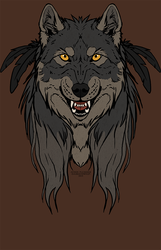 Tribal Werewolf - Shirt design.