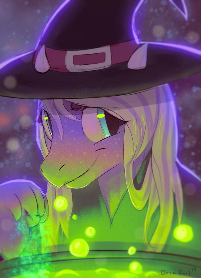 Spooky Dragon Witch