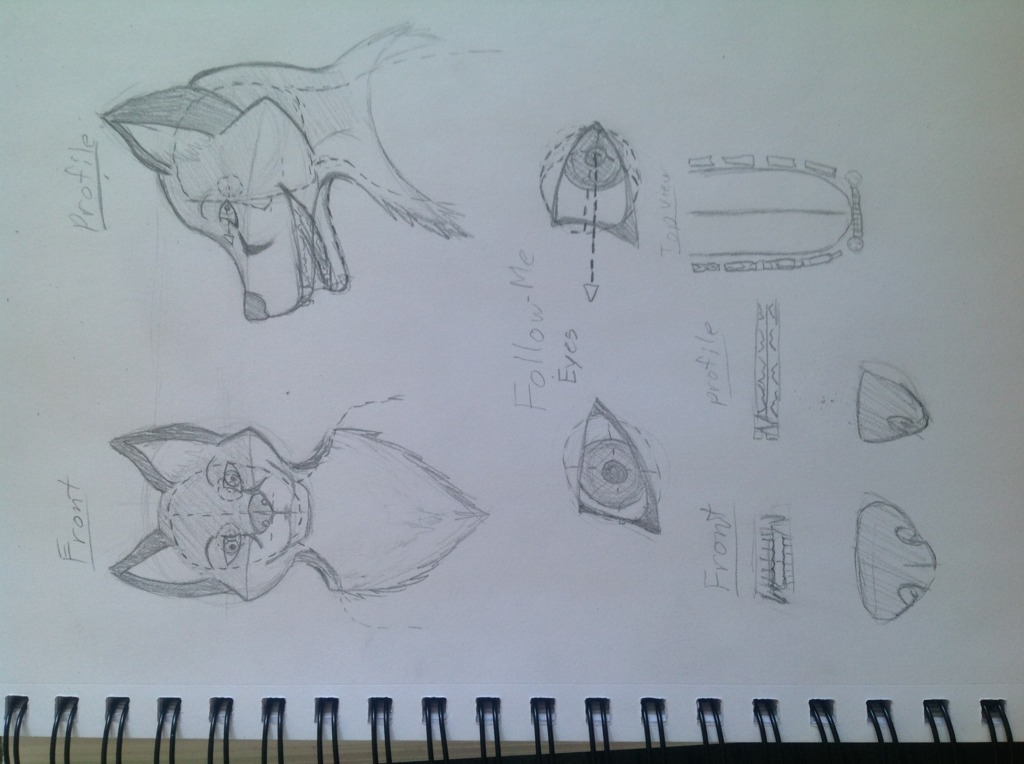Most recent image: Fursuit head concept