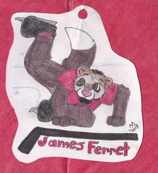 Hockey ferret badge