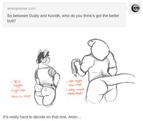 Dusty answers: Butt talk
