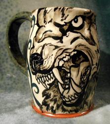 Snarling Wolf Beer Mug