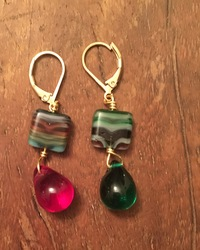 Red and Green Christmas Earrings