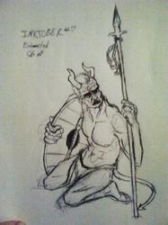 Inktober #7 Sketchy Demon