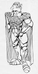 [Old Art] Sir Kain (inks) by David Cotelessa