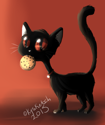 Kitty With Cookie