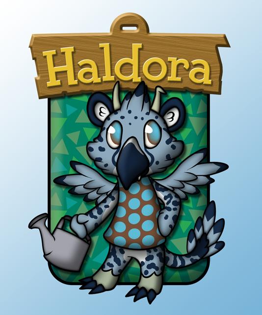 Animal Crossing Badge - Haldora