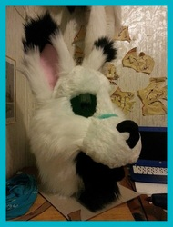 Premade Fursuit WIP - Furred Head (Ugh...)