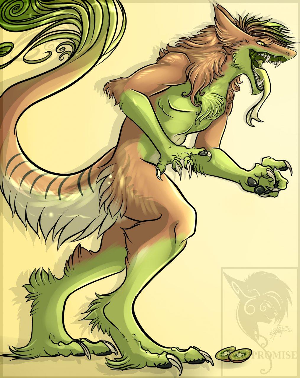 Kiwi chameleon -commission-