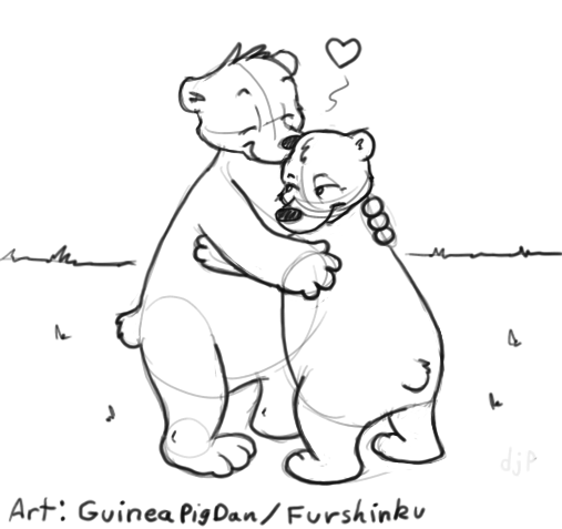 Valentine's Day bear hug