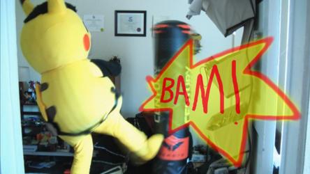 "Mascot Fursuiting: Ace Spade the Pikachu's ""Gym Training Regimen"""