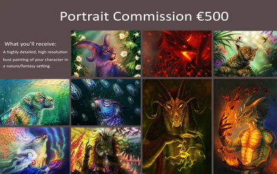 HIGHLY DETAILED Portrait Commission OPEN!