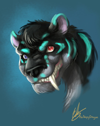 Art Trade - Psycho the Smilodon Speedpaint