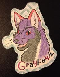 Headshot Badge - Graypaww
