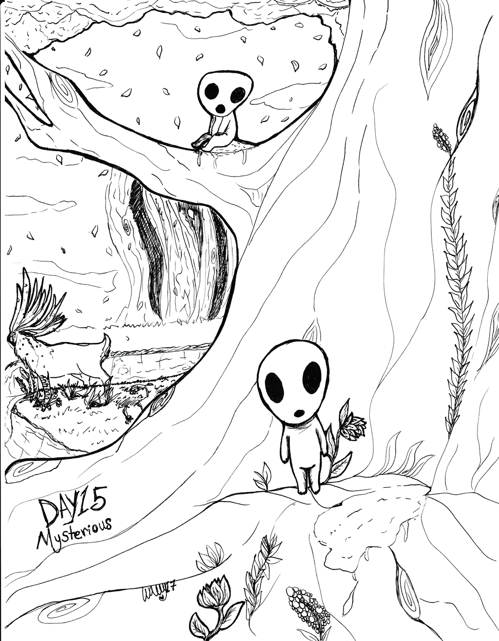 Inktober17 Day 15: Mysterious