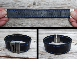 Leather Projects - Dragon Butts Wristband