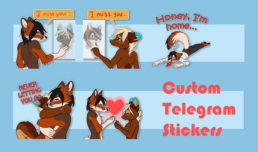 Louise and Charley Telegram Stickers