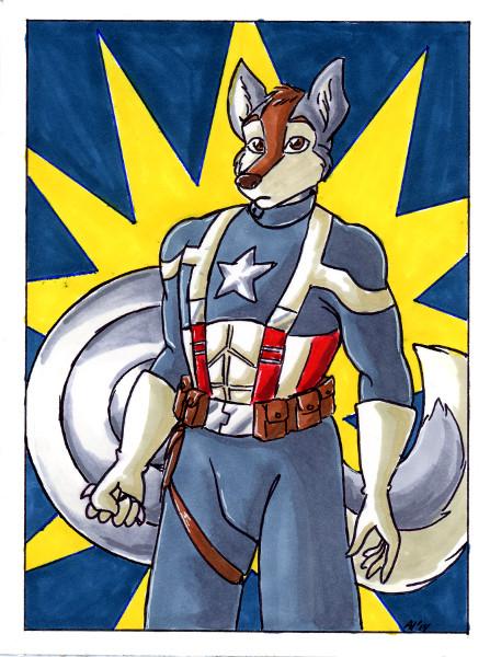 Avengers Art Card - Captain Amurrrica