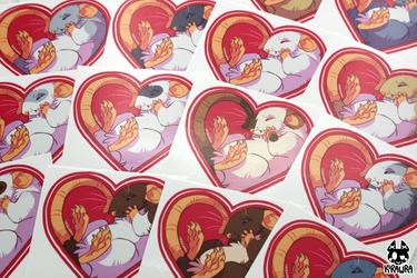 Heart Rat Stickers