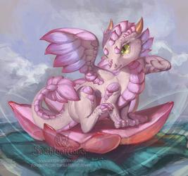 Lotus Dragon Hatchling Design