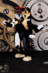 My mate and I's Fursuits!