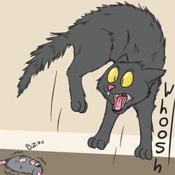 Scaredy Cats [catmonth]