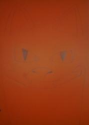 Big Dragon, Big face, Orange paper