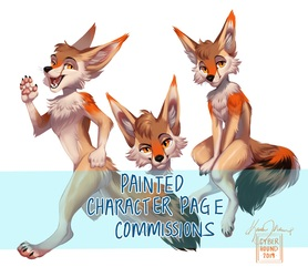 Painted Character Page Commissions (OPEN)
