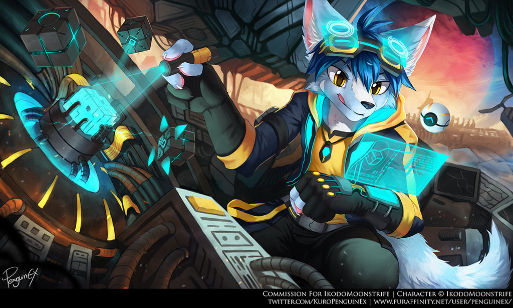 Most recent image: Commission - Scavenging for Parts