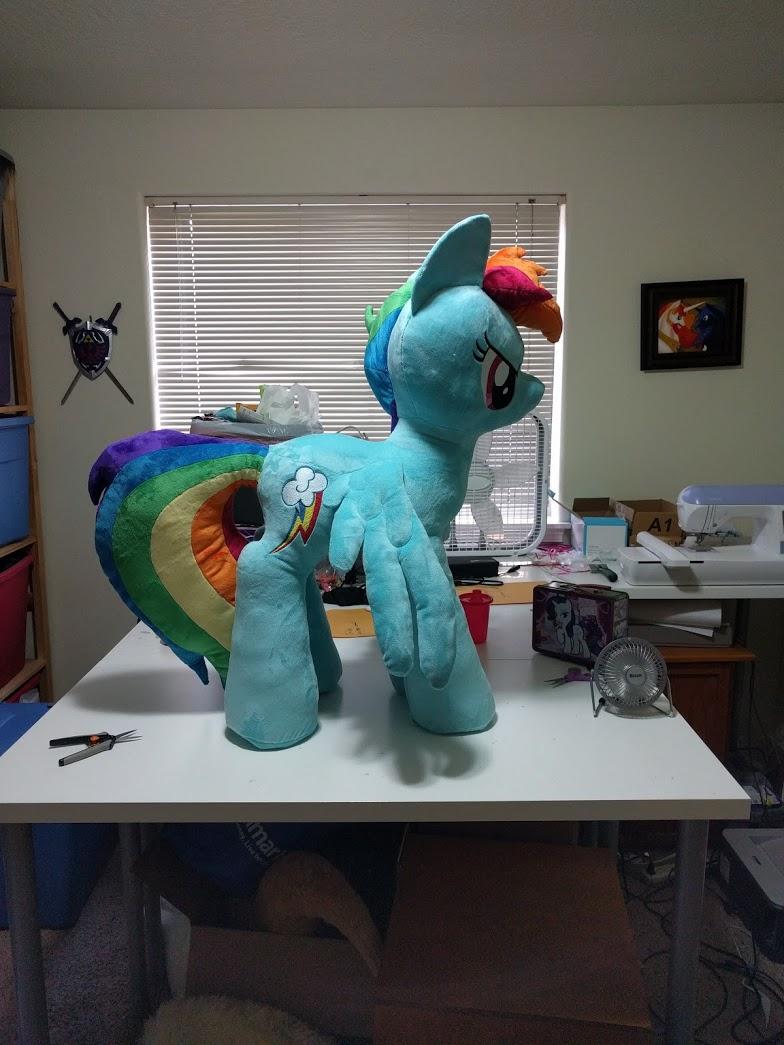 Most recent image: Three foot Rainbow Dash again
