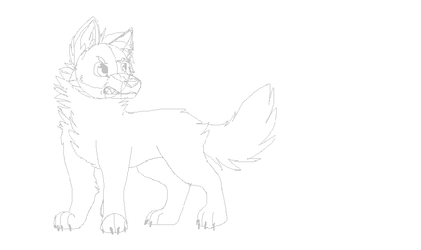 Angry canine sketch
