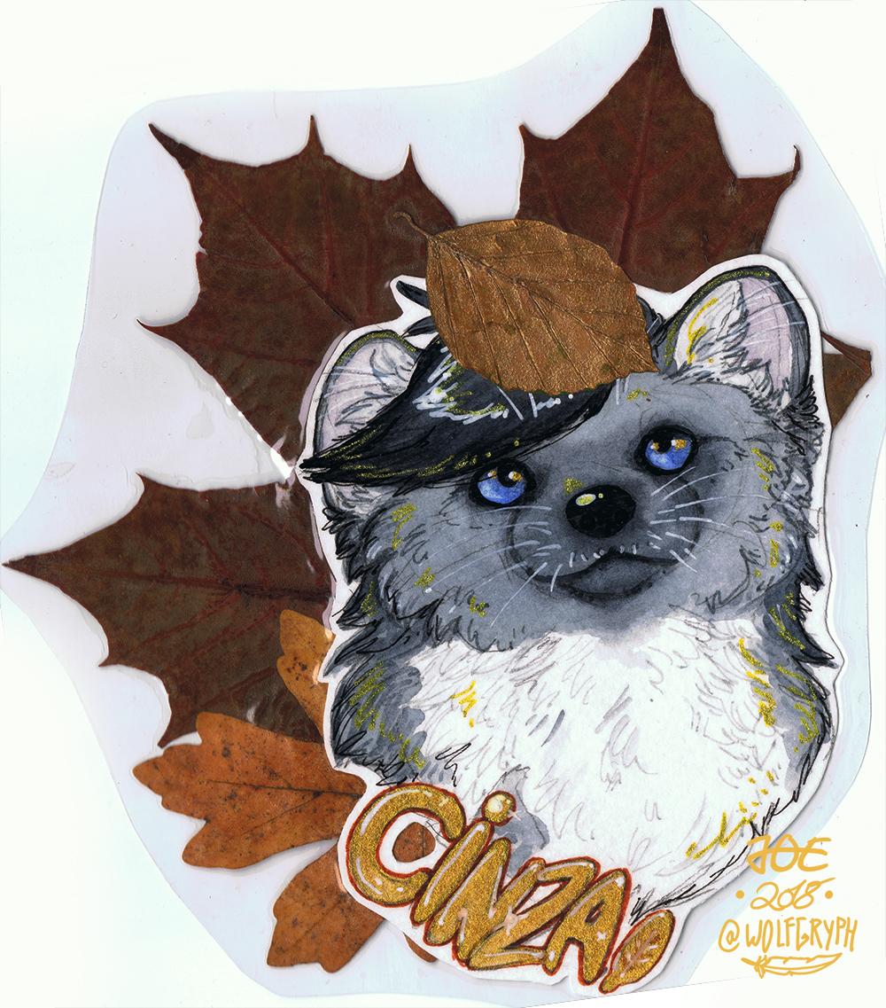 Autumn Badge - Cinza