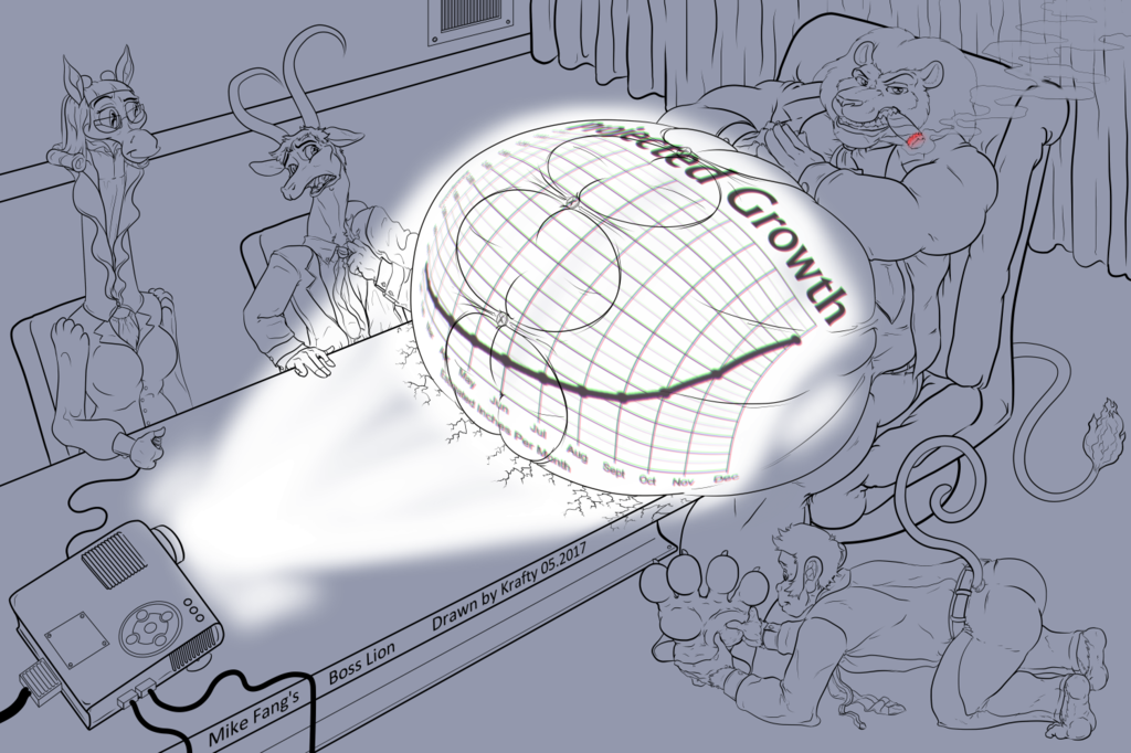 Most recent image: Boss Lion's Growing Projection - musclegut