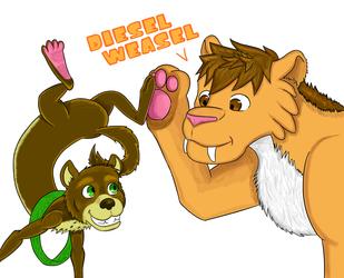 Art Trade -- Diesel Weasel!