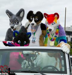 In the car at Eurofurence 18