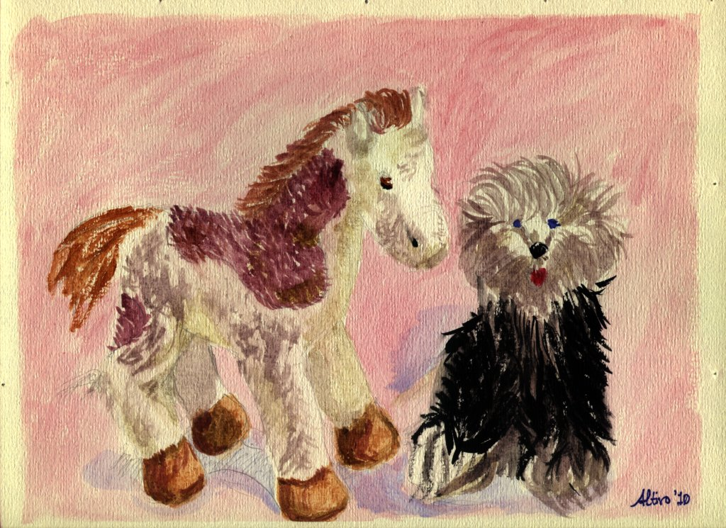 Plush Foal and Sheepdog