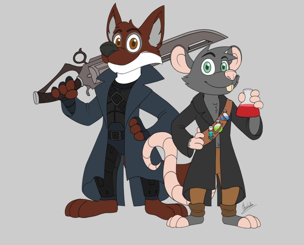 Most recent image: Gunbreaker Ceol and Alchemist Aen