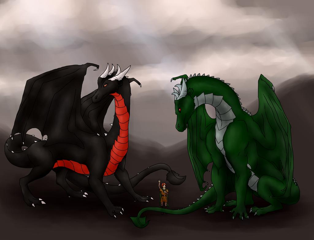 Commission for Drakeral--Dragon, Fella, Dragon...