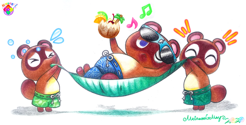 Fan-Art--Timmy, Tom And Tommy (Animal Crossing: New Horizons)