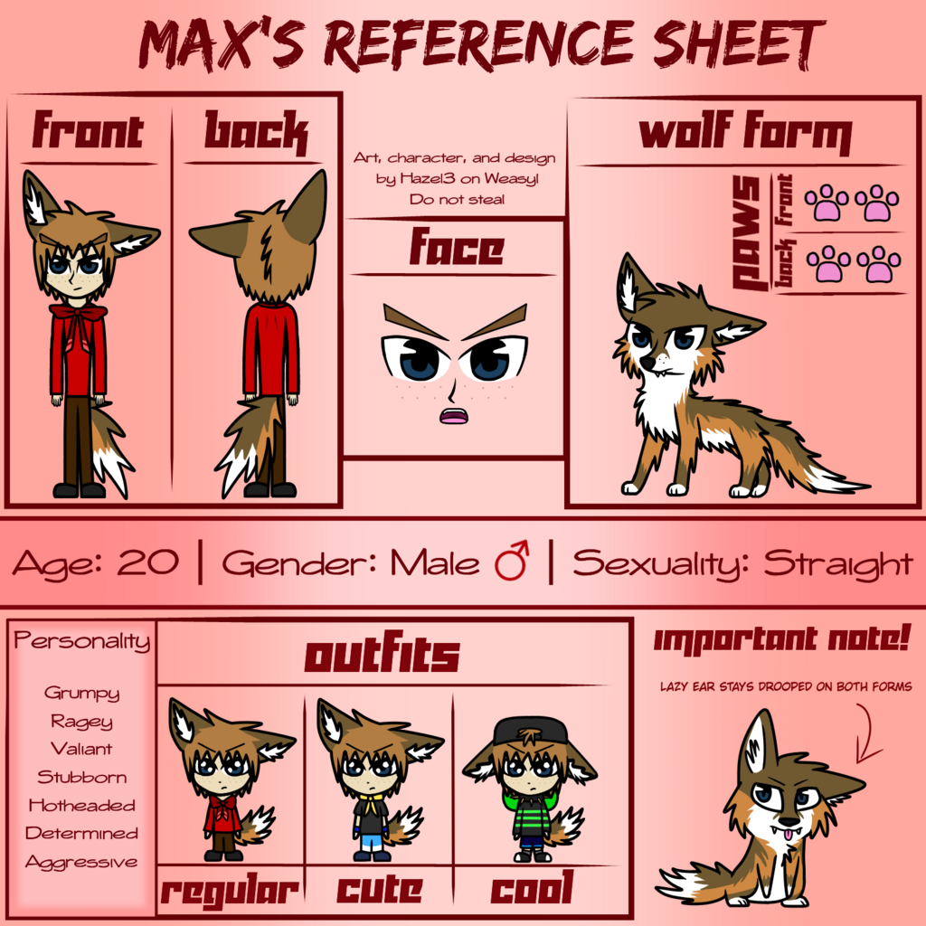Max's Reference Sheet